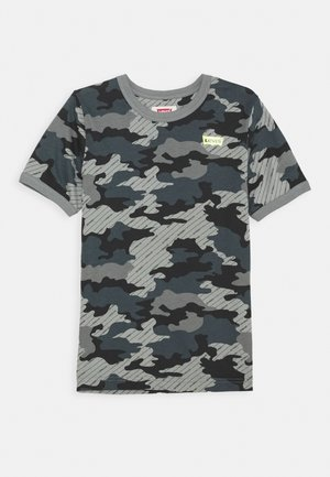 GRAPHIC RINGER UNISEX - Print T-shirt - black