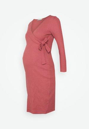 Žerzejové šaty - dark red