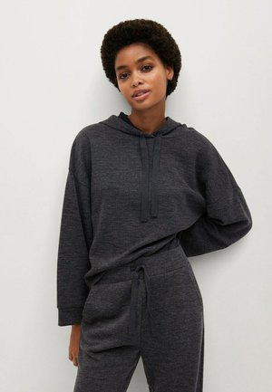 MAXIME7 - Sweat à capuche - dark heather grey