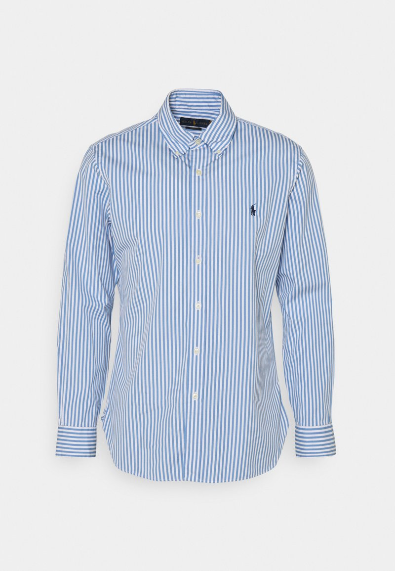 Polo Ralph Lauren - CUSTOM FIT STRIPED POPLIN SHIRT - Shirt - sky blue/white