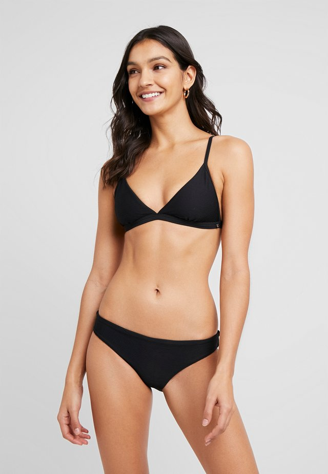 ESSENTIALS FIXED TRI BRA AND HIPSTER SET - Bikiny - black