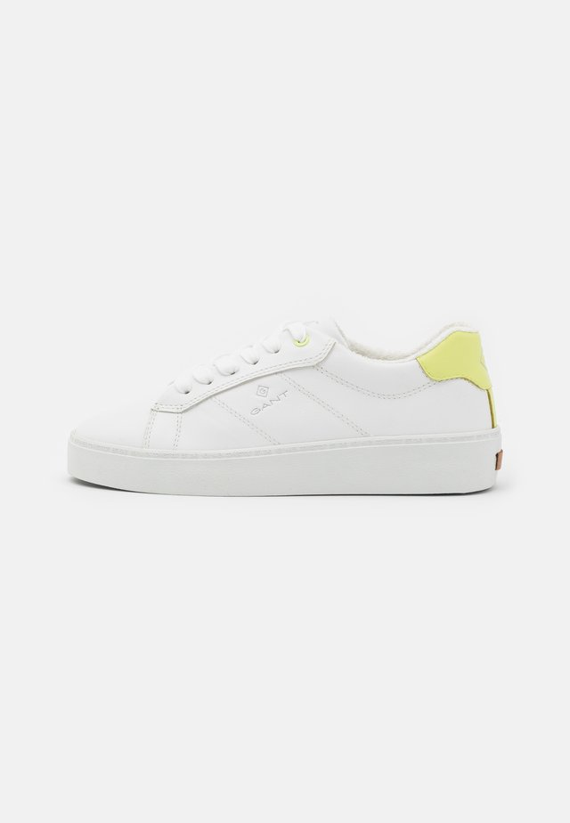 LAGALILLY - Sneakers basse - bright white/yellow
