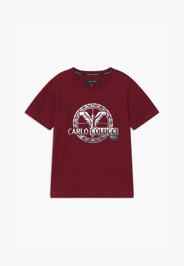 UNISEX - Print T-shirt - bordeaux