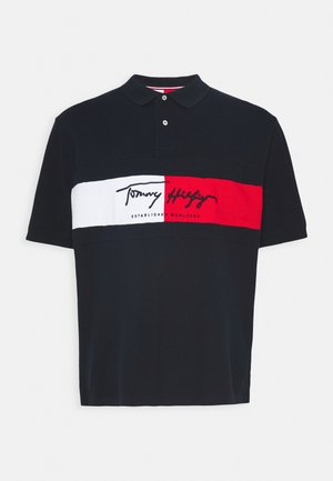 AUTOGRAPH FLAG - Polo shirt - blue