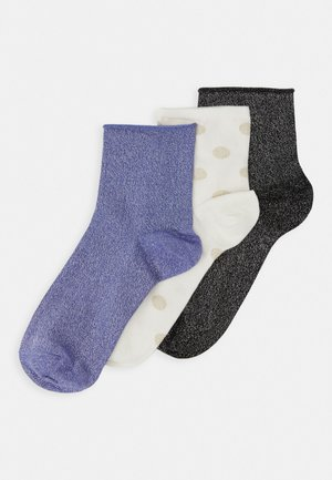 LIMITED EDITION GIFT BO 3 PACK - Socks - ivory/black/blue