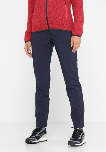 WOMAN LONG PANT - Pantaloni outdoor - black blue