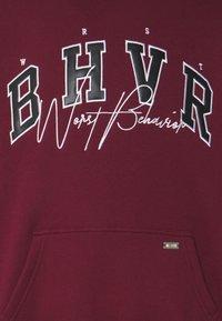 WRSTBHVR - HOODIE CRUSH UNISEX - Sweatshirt - burgundy - 2