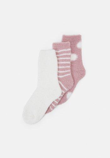 3 PACK - Socks - pink/white