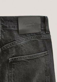 Massimo Dutti - Straight leg jeans - black - 5