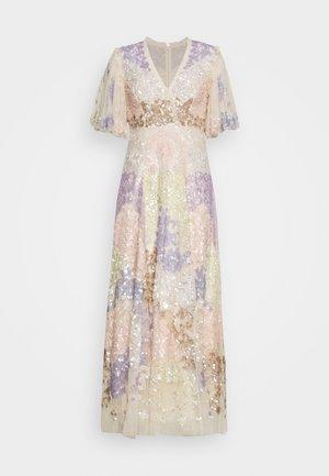 ELIZA SEQUIN ANKLE LENGTH GOWN - Společenské šaty - champagne