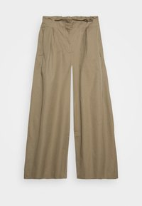 THE WIDE LEG TROUSER - Trousers - light tobacco