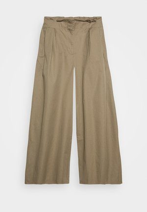 THE WIDE LEG TROUSER - Bukse - light tobacco