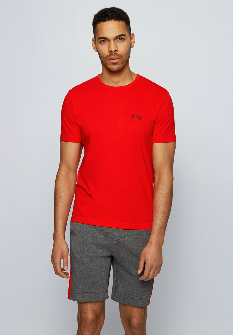 """BOSS - """"TEE CURVED"""" - Basic T-shirt - red"""