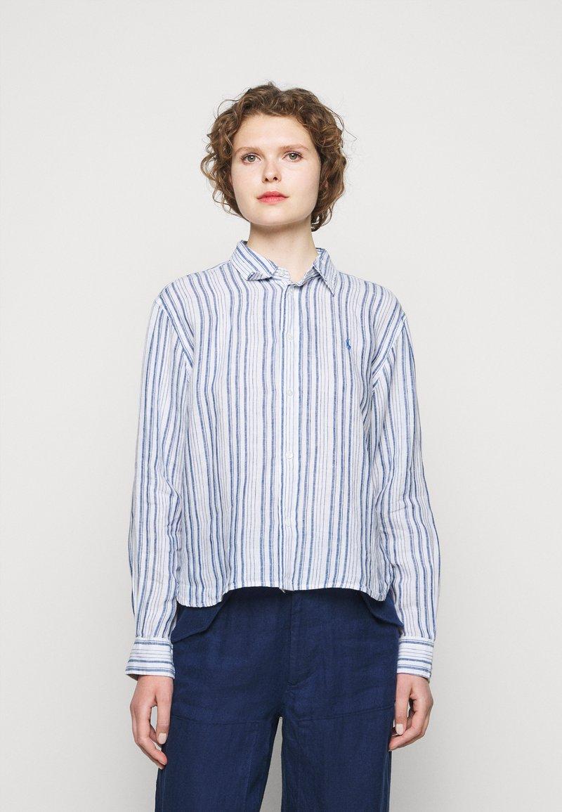 Polo Ralph Lauren - STRIPE - Button-down blouse - white/astor blue