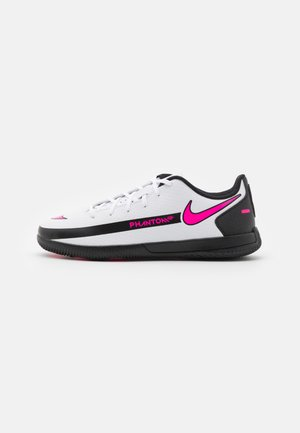 JR PHANTOM GT CLUB IC UNISEX - Indoor football boots - white/pink blast/black