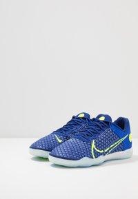 Nike Performance - REACTGATO  - Indoor football boots - racer blue/volt/deep royal blue/white - 4