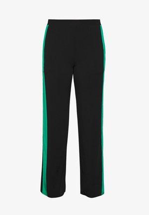 PANTS WIDE GALON STRIPE - Teplákové kalhoty - black/green lagoon