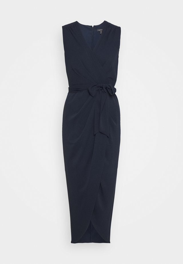 LIZA WRAP MIDI DRESS - Vestido de tubo - navy