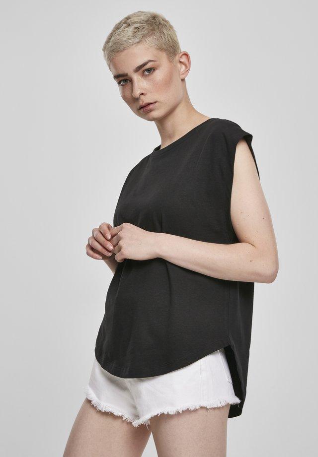 FRAUEN LADIES BASIC SHAPED - T-shirt basique - black