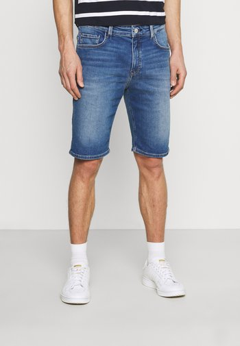 FIVE POCKET LOW WAIST - Denim shorts - true indigo blue