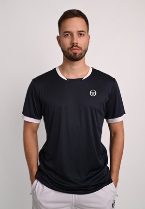 TENNISSHIRT CLUB TECH T-SHIRT - Club wear - navy/white