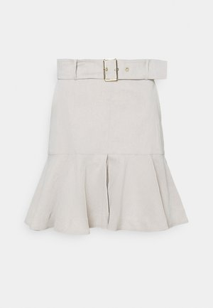TENERO GONNA TELA - Mini skirt - beige
