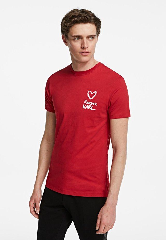FOREVER  - T-shirt imprimé - red