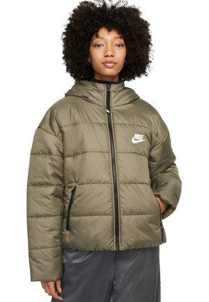 Winter jacket - medium olive/black/white