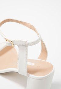 Dorothy Perkins - SHIMMER BLOCK - Sandaler med høye hæler - white - 2