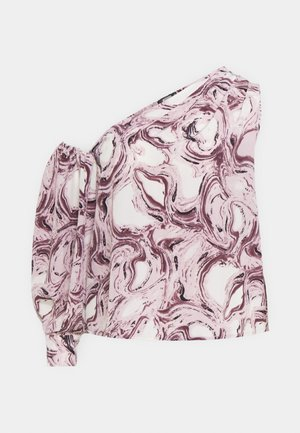 PLUS ONE PUFF MARBLE - Blouse - blush