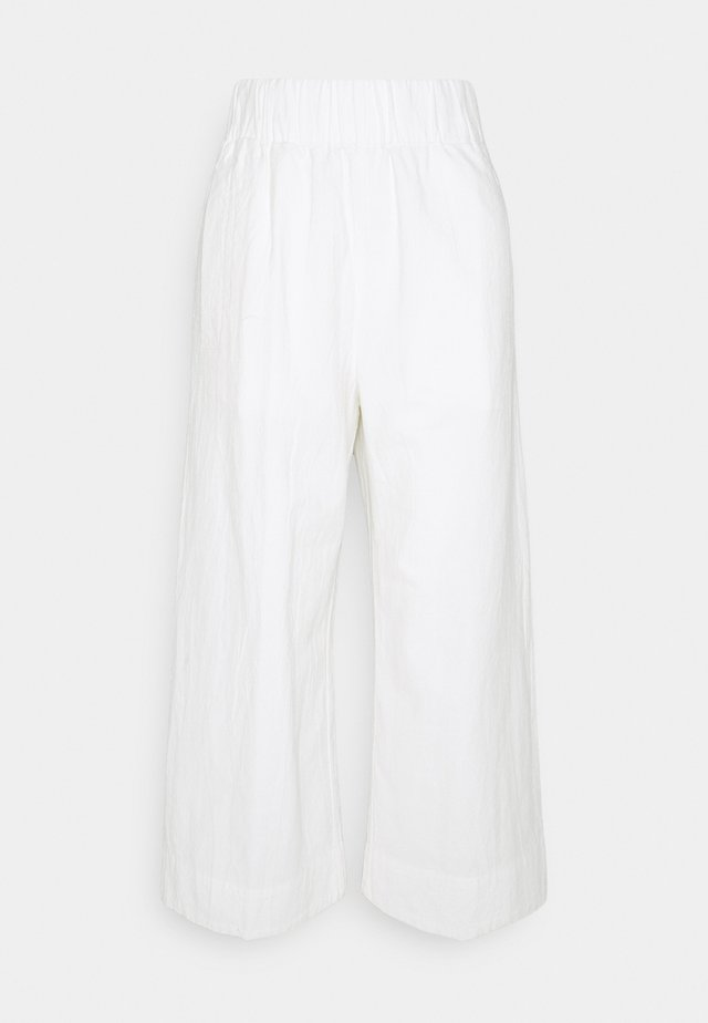 CRINCLE CULOTTES - Pantaloni - scandinavian white