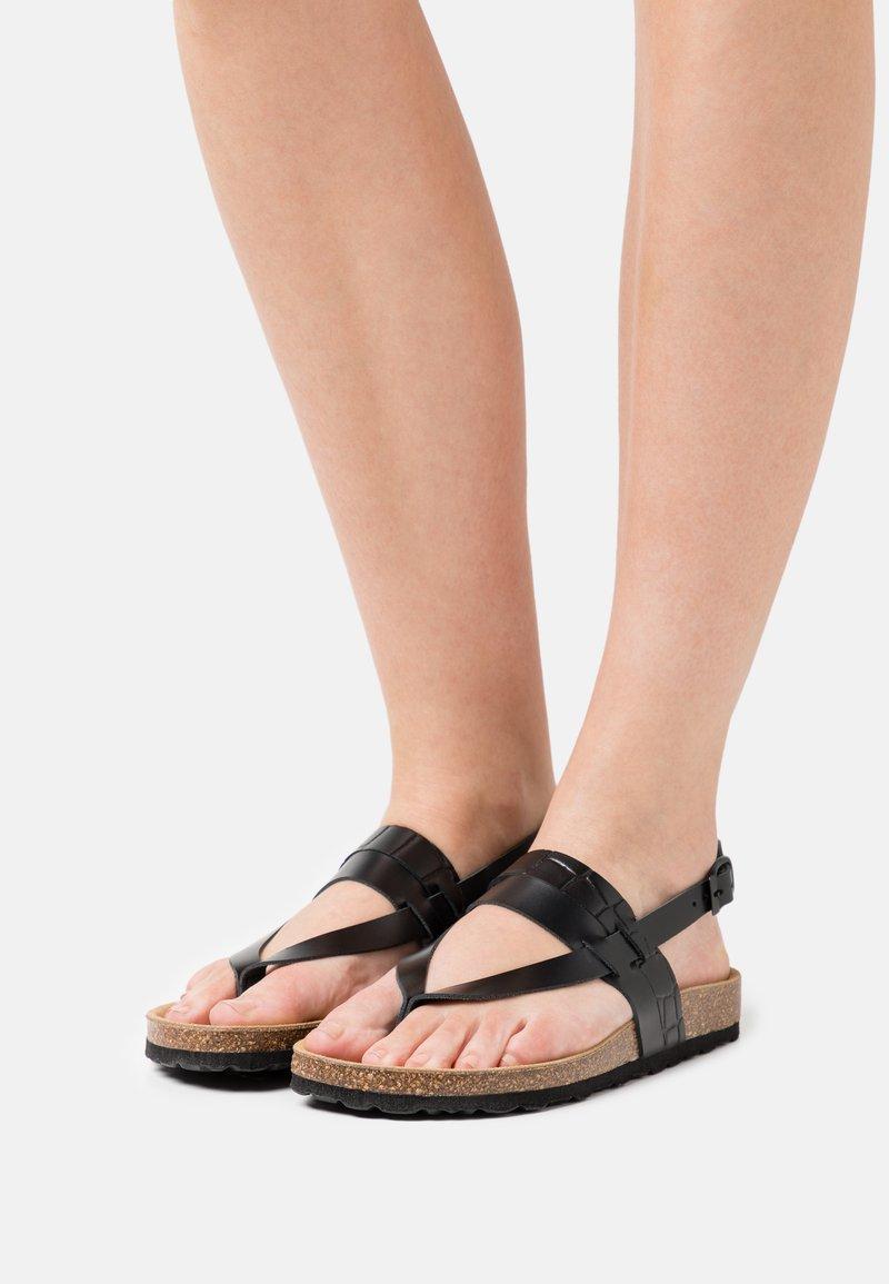 Zign - T-bar sandals - black