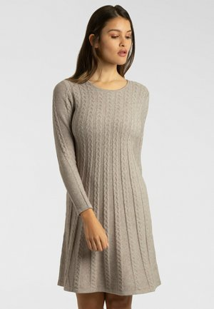 Robe pull - taupe