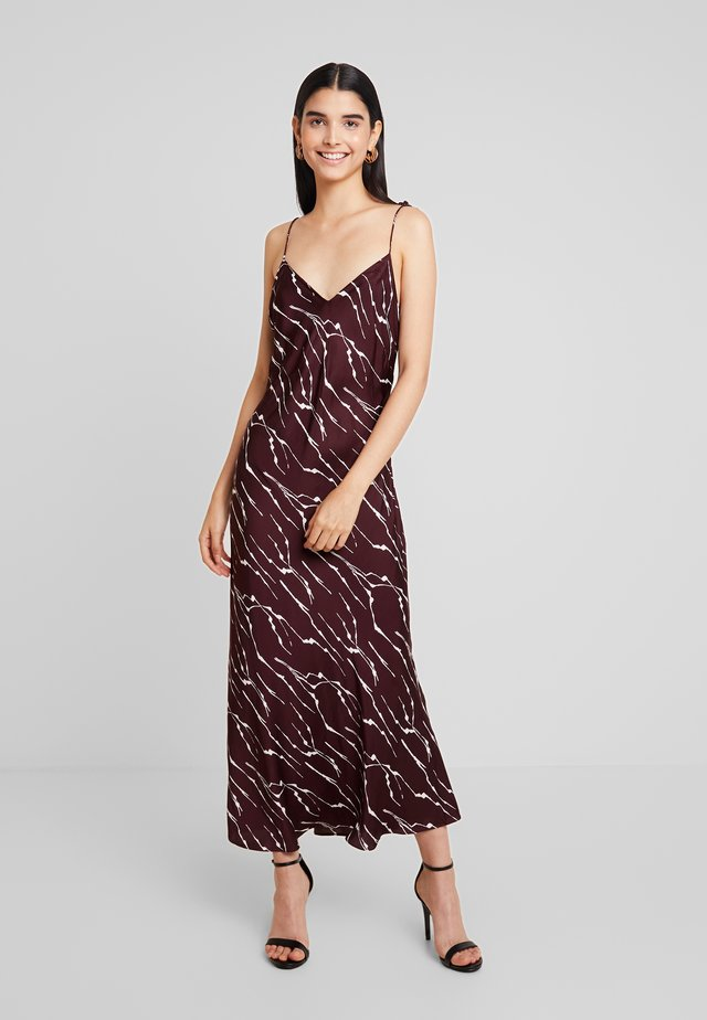 DAGMA PRINT SLIP DRESS - Maxi dress - burgundy