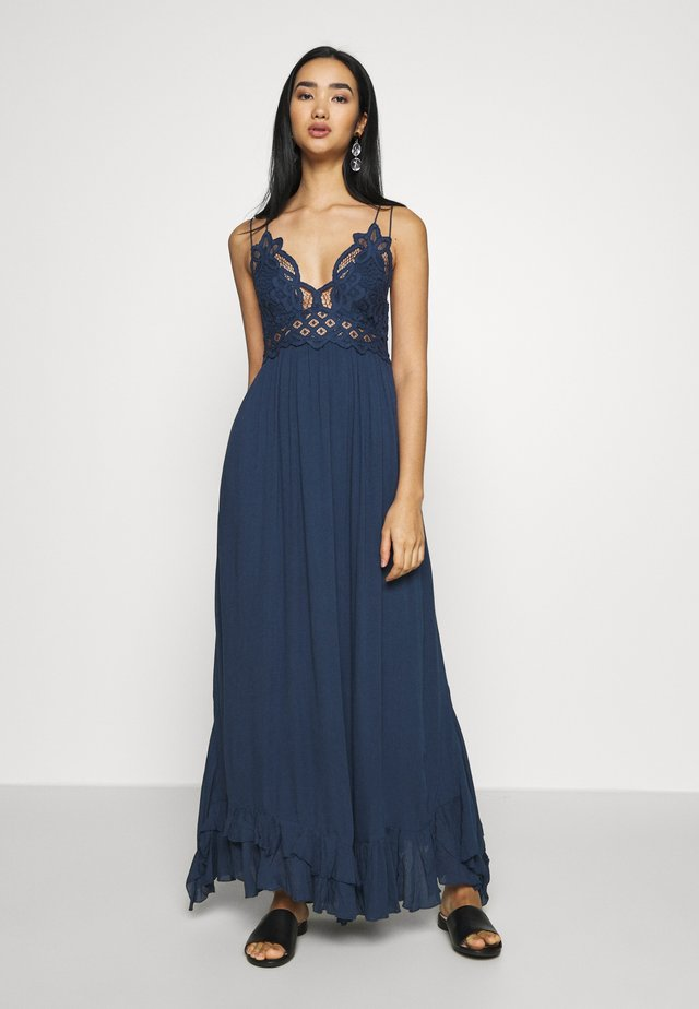ADELLA SLIP - Maxi dress - blue