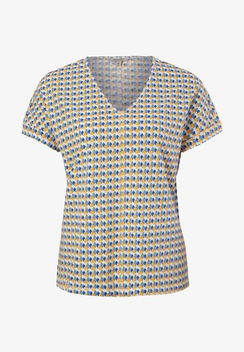 MIT ALLOVER-PRINT - T-shirt con stampa - white triangle in dots