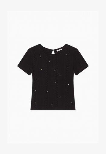MIT PERLEN - Print T-shirt - schwarz