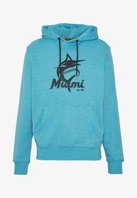 Fanatics - MLB MIAMI MARLINS HOODIE - Klubové oblečení - blue - 5