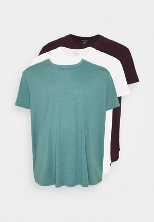 SHORT SLEEVE CREW 3 PACK - Basic T-shirt - red/offwhite