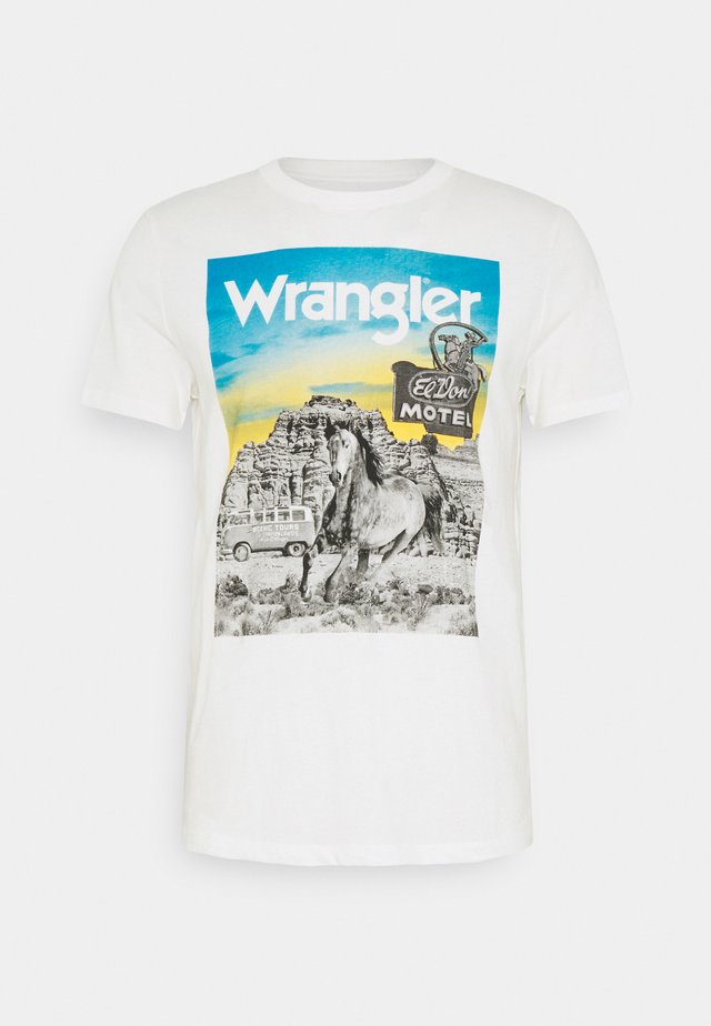 PHOTO TEE - T-shirts med print - off-white