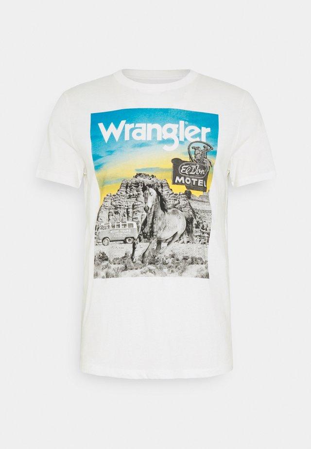 PHOTO TEE - T-shirt imprimé - off-white