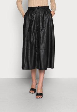SKIRT - Jupe en cuir - black