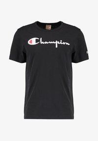 Champion Reverse Weave - SHORT SLEEVE TEE - Print T-shirt - black - 4