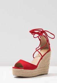RAID - MAREA - High heeled sandals - red - 4
