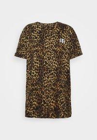 River Island - Print T-shirt - brown/black - 4