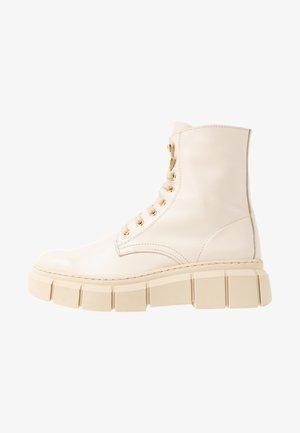LOR - Platform ankle boots - beige