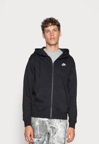 Nike Sportswear - M NSW FZ FT - Felpa con zip - black/white - 0