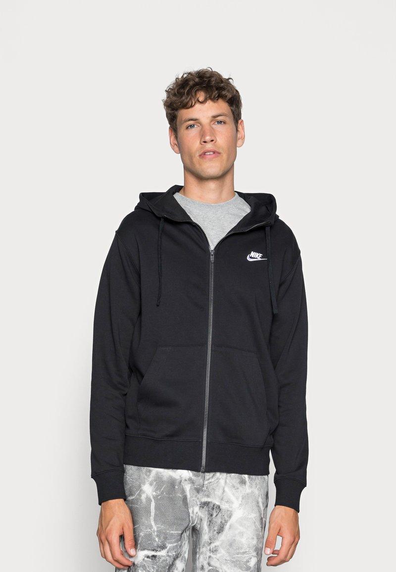 Nike Sportswear - M NSW FZ FT - Felpa con zip - black/white