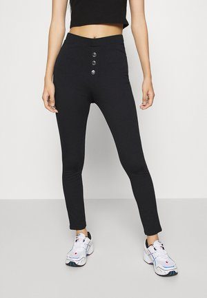 Front buttoned Leggings - Leggings - Trousers - black