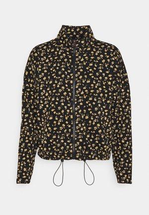 ONLALICE ZIP - Zip-up sweatshirt - black/yellow